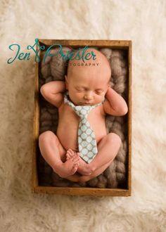Ryan Polka Dot Newborn and Baby Boy Tie - 0 - 3 Month, Newborn Photography Props,  Necktie, Baby Tie, Props for Boys, Adjustable Neck. $18,00, via Etsy.