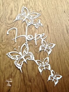 PERSONAL USE Hope Butterfly Design by TommyandTillyDesign on Etsy