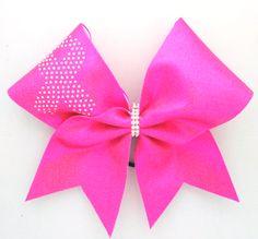 3 Inch Pink Breast Cancer Awareness  Rhinestone Bow