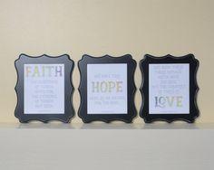 Faith Hope Love, Bible verse art, Bible verse printable