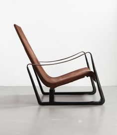 A Passion For Jean Prouvé  / 'Cité' armchair, ca.1933 Sheet steel, leather and stretched canvas, Collection Laurence and Patrick Seguin © Galerie Patrick Seguin / http://www.yatzer.com/Jean-Prouve-Passion