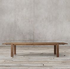 RHu0027s Reclaimed Russian Oak Parsons Rectangular Extension Dining Table:Handcrafted  Of Solid Reclaimed White Oak