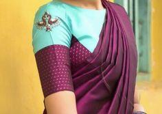 Simple Blouse Designs, Stylish Blouse Design, Cotton Saree Blouse Designs, Pattern Blouses For Sarees, Trendy Sarees, Designer Blouse Patterns, Sumo, Designers, Label