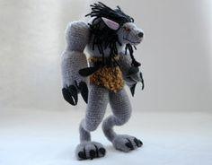 World of Warcraft: crochet Worgen figurine by tinyAlchemy