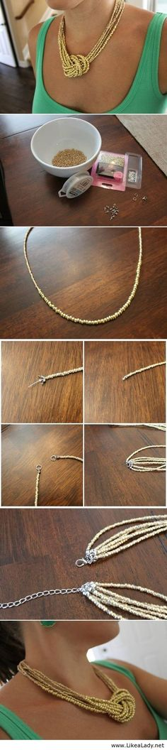 Simple bead necklace....YES, this is it!
