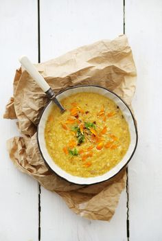 Red Lentil and Carrot Soup with Chili and Coconut