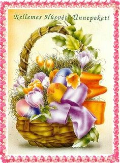 Kellemes húsvéti ünnepeket Butterfly Background, Happy Easter, Floral Wreath, Clip Art, Halloween, Cards, Gifts, Easter, Happy Easter Day