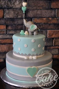 Baby Boy Shower Cakes With Elephants.Simple Boy Baby Shower Cake With Blue Ombr And Double . Elephant Baby Shower Cake This Was Made To Match The . Torta Baby Shower, Tortas Baby Shower Niña, Baby Shower Pasta, Baby Shower Snacks, Baby Shower Cakes For Boys, Baby Boy Cakes, Baby Shower Cupcakes, Baby Boy Shower, Baby Shower Cakes Neutral