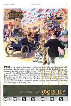 Wolseley Motor Car Autocar Advert 1945
