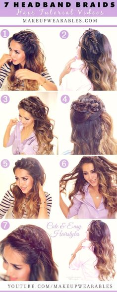 7 Cute & Easy Headband Braid Hairstyles to try in 2015 | Tutorial