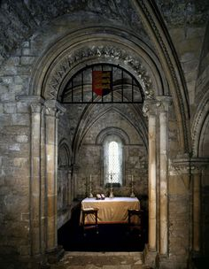 Dover Castle: The Upper Chapel in the Keep, Kent, UK