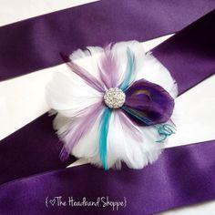 COLWELL  Peacock Feather Wedding Sash Bridal by TheHeadbandShoppe, $72.00