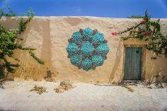 INKMAN – Djerbahood Project (Djerba, Tunisia) [Photo Credit: Galerie Itinerrance / Aline Deschamps]