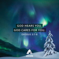 God Hears Your Cries - Exodus 3:7-8 - Abide Prayer Scriptures, Bible Verses Quotes, Exodus 3, Daily Scripture, Set Me Free, Life Thoughts, S Word, Finding Peace, Christian Quotes