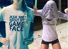 Volleyball Tshirt inside out with a volleyball face - Funny Volleyball Shirts - Ideas of Funny Volleyball Shirts - Volleyball Tshirt inside out with a volleyball face Funny Volleyball Shirts, Volleyball Outfits, Volleyball Quotes, Volleyball Players, Funny Shirts, Volleyball Gear, Basketball Outfits, Softball Gifts, Softball Stuff