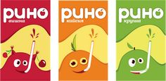 Rino children's juice flavors cute #packaging #design : ) PD