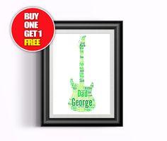 Guitar artwork  guitar present guitar   guitar print