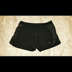 Running shorts! Black running shorts with block designs. Only worn once. Old Navy Shorts