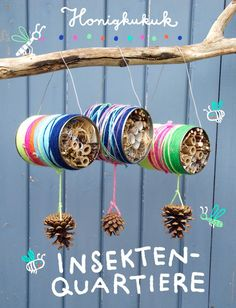 – Honigkukuk Insektenquartiere aus Blechdosen basteln Related posts:Decorate crafts letters with small objects 🙂 -- A ton of DIY super easy kids cr.Adorable AmigurumiEasy Caterpillar Craft for. Insect Crafts, Nature Crafts, Garden Crafts, Garden Projects, Diy Projects, Garden Kids, Bug Hotel, Insect Hotel, Kids Crafts