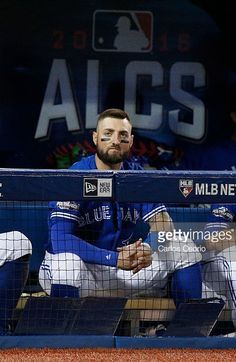 Kevin Pillar, TOR//Oct 19,2016 Game 5 ALCS v CLE Kevin Pillar, Mlb Postseason, Go Blue, Toronto Blue Jays, Raptors, Curling, Softball, Buffalo, Baseball Cards