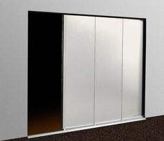 Porte de garage latérale - Panneau sans rainure Blanc
