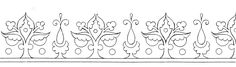 Hand Embroidery Pattern - simple decorative border