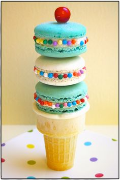 Ice cream cone macarons.