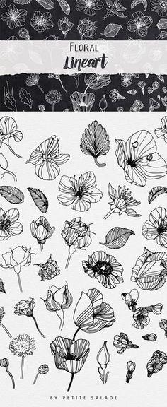 Botanical Drawings, Botanical Illustration, Floral Illustrations, Pattern Illustrations, Botanical Line Drawing, Simple Illustration, Drawing Hands, Flower Doodles, Ink Doodles