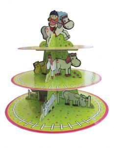 Cake Stand: 3 Tier Horse or Pony Cake Stand £5.99 great for a girl party that loves horses