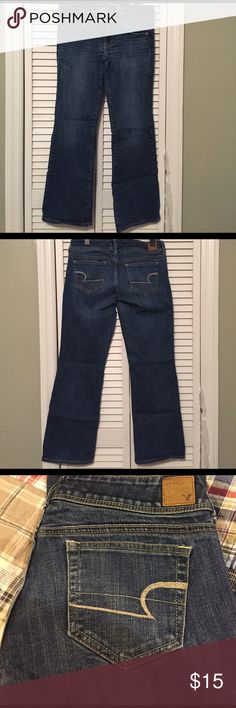 American Eagle Jeans size 6 short. Jeans are in great condition. American Eagle size 6 short. Bootcut. American Eagle Outfitters Jeans Boot Cut