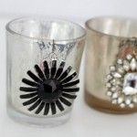 Vintage Jewelry Crafts Thrift Stores Candle Holders 37 New Ideas Vintage Thrift Stores, Thrift Store Crafts, Diy Wedding Projects, Wedding Crafts, Wedding Ideas, Vintage Glam Looks, Vintage Style, Mercury Glass Candle Holders, Candle Store