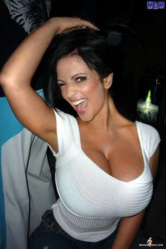 Denise Milani In Tight White Top