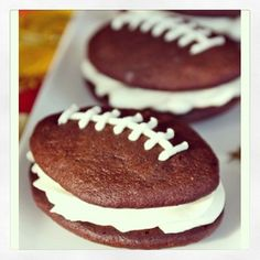 Happy Football Season! Enjoy these #sweet treats at your tailgate. #WhoopiePies #football