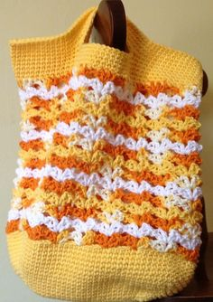 Crochet Shell-shopped bag free pattern