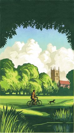 Chris Wormell, illustrator, at The Artworks Illustration Agency Woodcut Art, Linocut Prints, Lino Art, Landscape Art, Landscape Paintings, Landscape Quilts, Agatha Christie, Tree Artwork, Illustrations And Posters