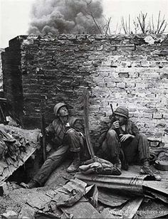 American soldiers during the 1968 Tet Offensive, which the Americans won soundly, but the press managed to spin it the other way round.