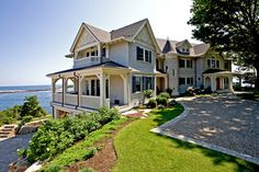 CURB APPEAL – another great example of beautiful design. Cliffside with a traditional exterior near boston by Windover Construction.