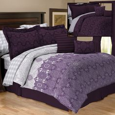 Sander Sales Enterprises Empress Plum Reversible 10 Piece Bedding Set