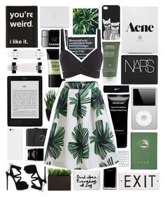 """greens"" by xgracieeee ❤ liked on Polyvore featuring Casadei, Aveda, NARS Cosmetics, Butter London, Monki, Rosanna, KEEP ME, Smashbox, Narciso Rodriguez and Givenchy"