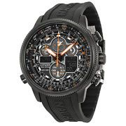 Look what I just bought on eBay: Citizen Navihawk A-T Black Dial Black Rubber Mens Watch JY8035-04E