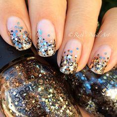 Glitter Gradient #nails #ruthsnailart #nailart