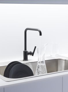 Kitchen Sink Shower Kitchen trend black vs brass coco kelley kitchen trends i love the look of a black faucet workwithnaturefo