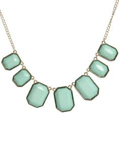 Faceted Square Statement Necklace from WetSeal.com