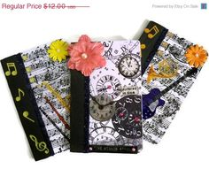 CIJ SALE Mini Composition Books   Steampunk by AuriesDesigns, $10.20