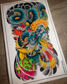 japanese with tattoos Japanese Back Tattoo, Japanese Dragon Tattoos, Japanese Tattoo Designs, Japanese Sleeve Tattoos, Japanese Art, Dragon Chino Tattoo, Body Art Tattoos, Small Tattoos, Dibujos Tattoo