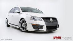 VMR Wheels Hyper Silver on Volkswagen Passat White Passat 3c, Jetta Mk5, Volkswagen Golf Mk1, Car Wrap, Cars And Motorcycles, Hot Wheels, Cool Cars, Super Cars, Vehicles