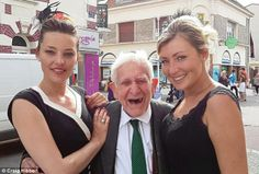 This is 89 year old D-Day veteran Bernard Jordan. On 6 June 2014, he snuck out of his care home in Hove, caught a train to Portsmouth and then boarded a ferry to Caen, Normandy, to ensure he was present for the 70th Anniversary commemoration of the D-Day landings. This is him enjoying the fruits of his journey in Normandy. I hope that when I am this age, I still have the bravery, strength and youthfulness to board a ferry on a whim and venture to where my heart knows it should be.