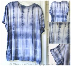 Blue tie-dye shirt from Black Beans dye results