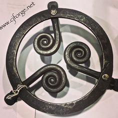 Handmade hardware. Forged trivet.  www.facebook.com/CJForgeBlacksmith  #blacksmith #handmade #hardware