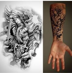 Tattoos Discover Engel Tattoo Source by A Tattoo Tiki Tattoo Tattoo Dotwork Jesus Tattoo Tattoo Und Piercing Angels Tattoo Angel Tattoo Men Angel Tattoo Drawings Angel Sleeve Tattoo Angel Warrior Tattoo, Warrior Tattoos, Wolf Tattoos, Cute Tattoos, Body Art Tattoos, Tattoos For Guys, Angels Tattoo, Angel Tattoo Men, Pisces Tattoos